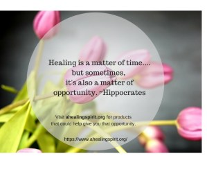 Opportunity to heal