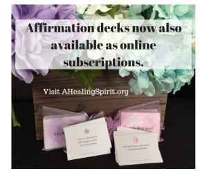 NEW! online affirmation subscriptions