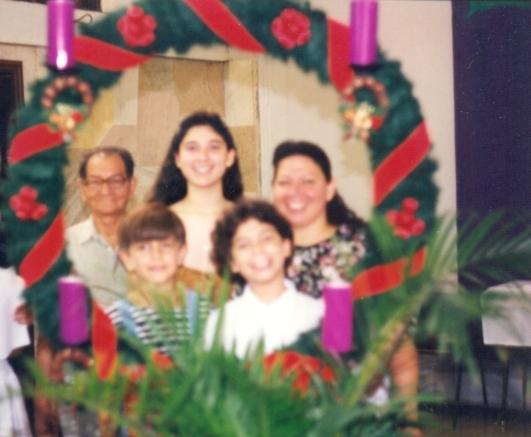 Com a familia no Natal - 1998