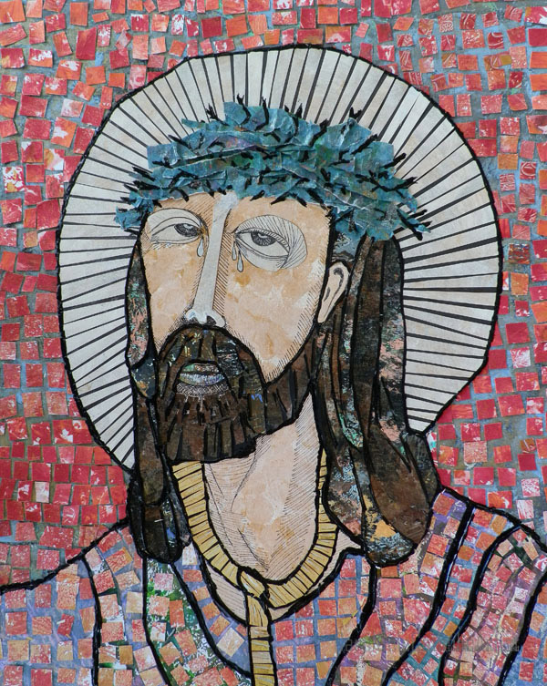 jesus crowned with thorns artist carol cole