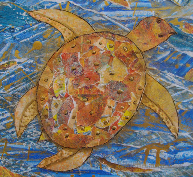 sea turtle art carol cole