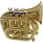 CarolBrass CPT-1000-YSS-C Mini Pocket Trumpet