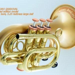 CarolBrass CPT-3002-RLM(D)-Bb-SLB Sandoval Pocket Trumpet