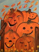 Pumpkins on a gate