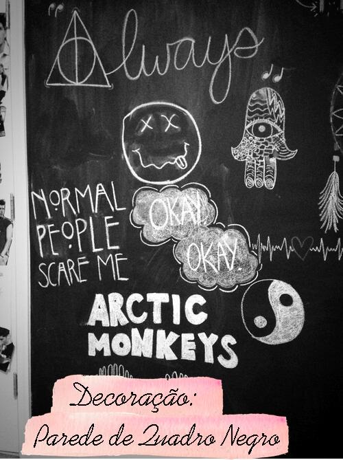 decoracao parede de quadro negro