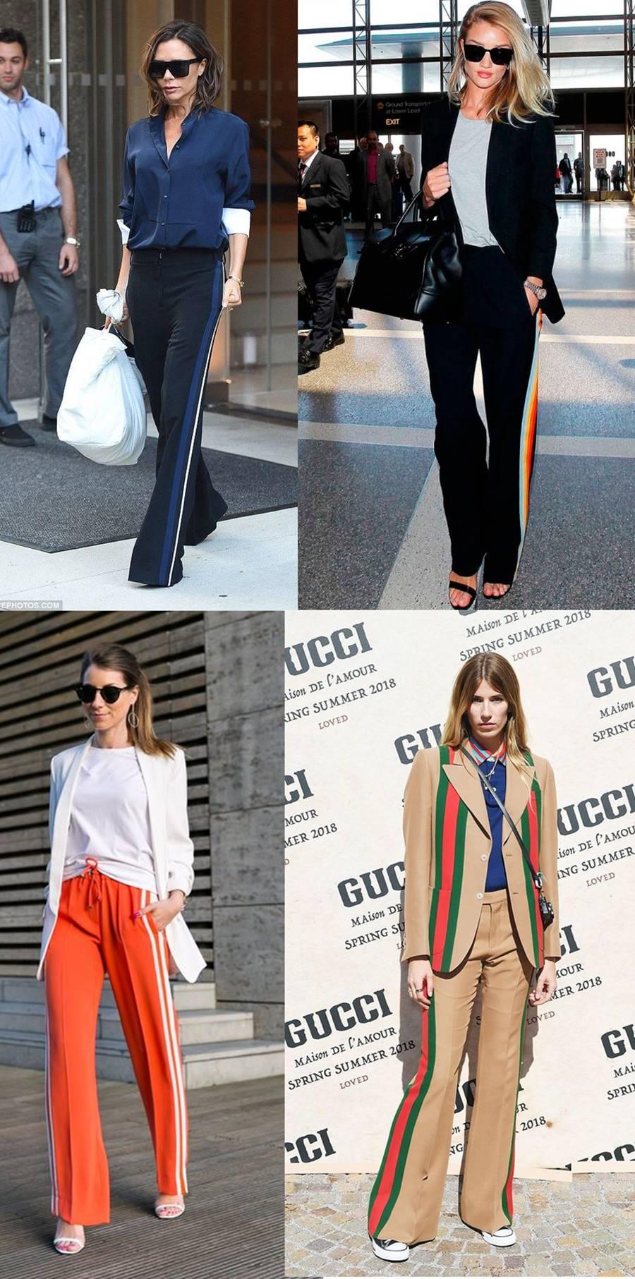 Nos looks mais streetstyle já fica mais fácil de combinar sua calça com listra  lateral e deixar o look confortável e fashionista. Dá pra usar  transparência 05e707d756af3