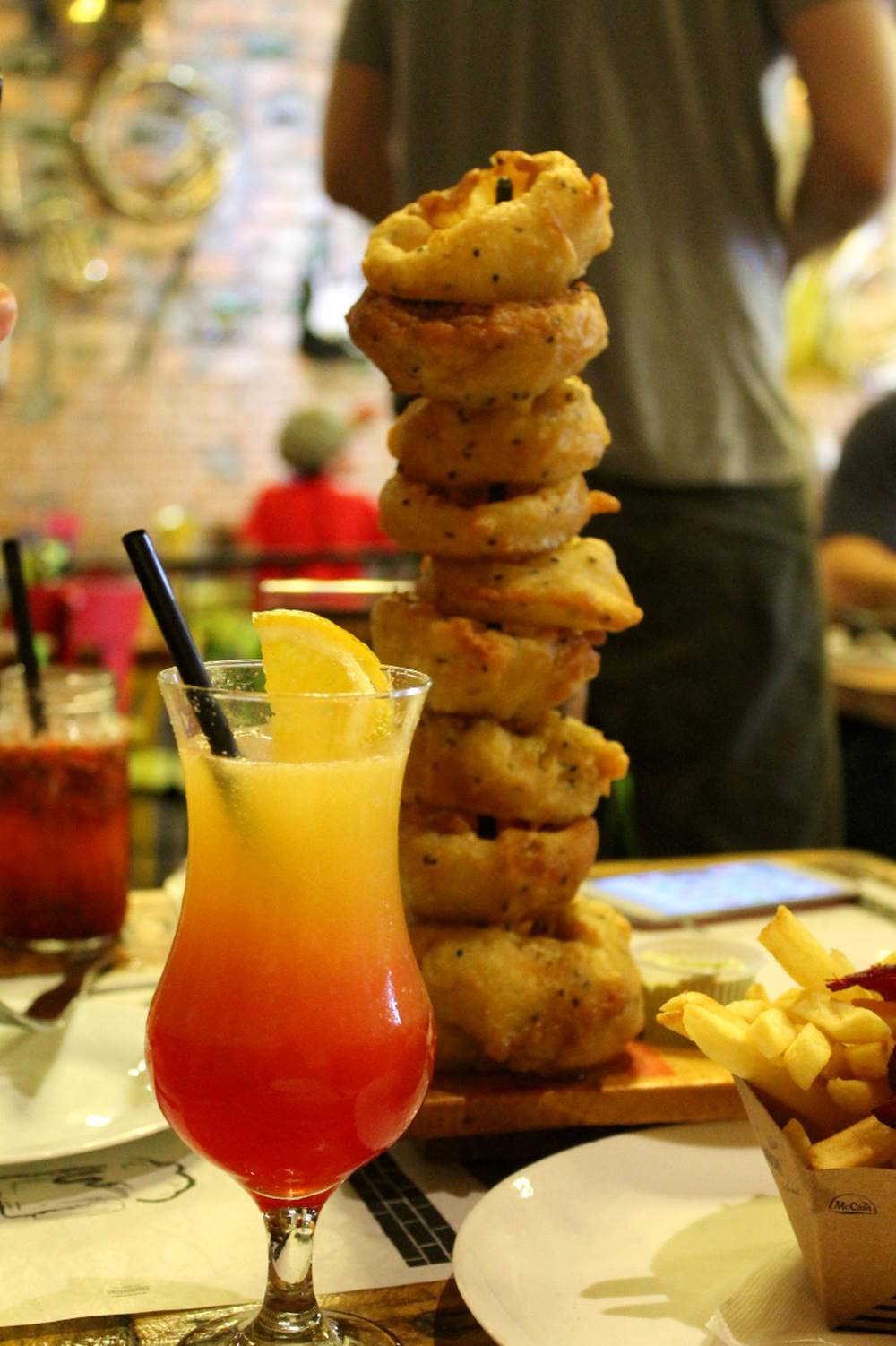 Torre Onion Rings do Jazz Restô Burguers parceiro #bloggerssecret