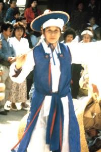 Shaman in the Taegam costume