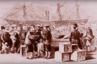 chinese arriving at docks_edited