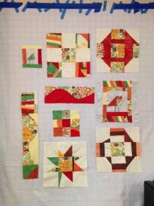 quilt retreat modern quilt in progress