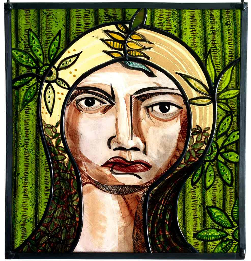 Glass Painting Scary Lady 20cm x 22cm