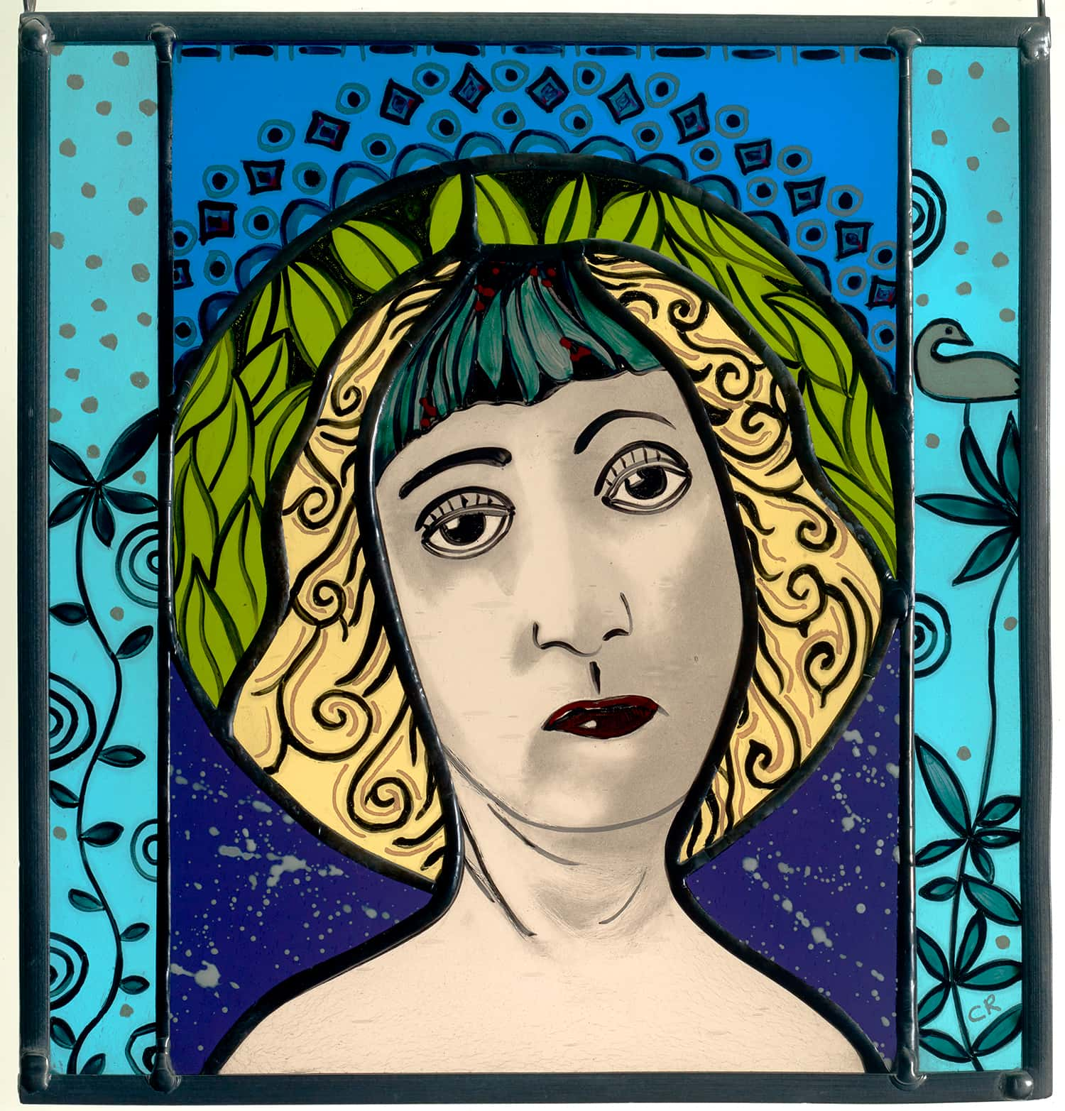 Glass Painting Mella Bella 20cm x 22cm