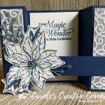 Poinsettia Petals Bridge Card