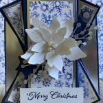 Poinsettia Double Fan Fold Card