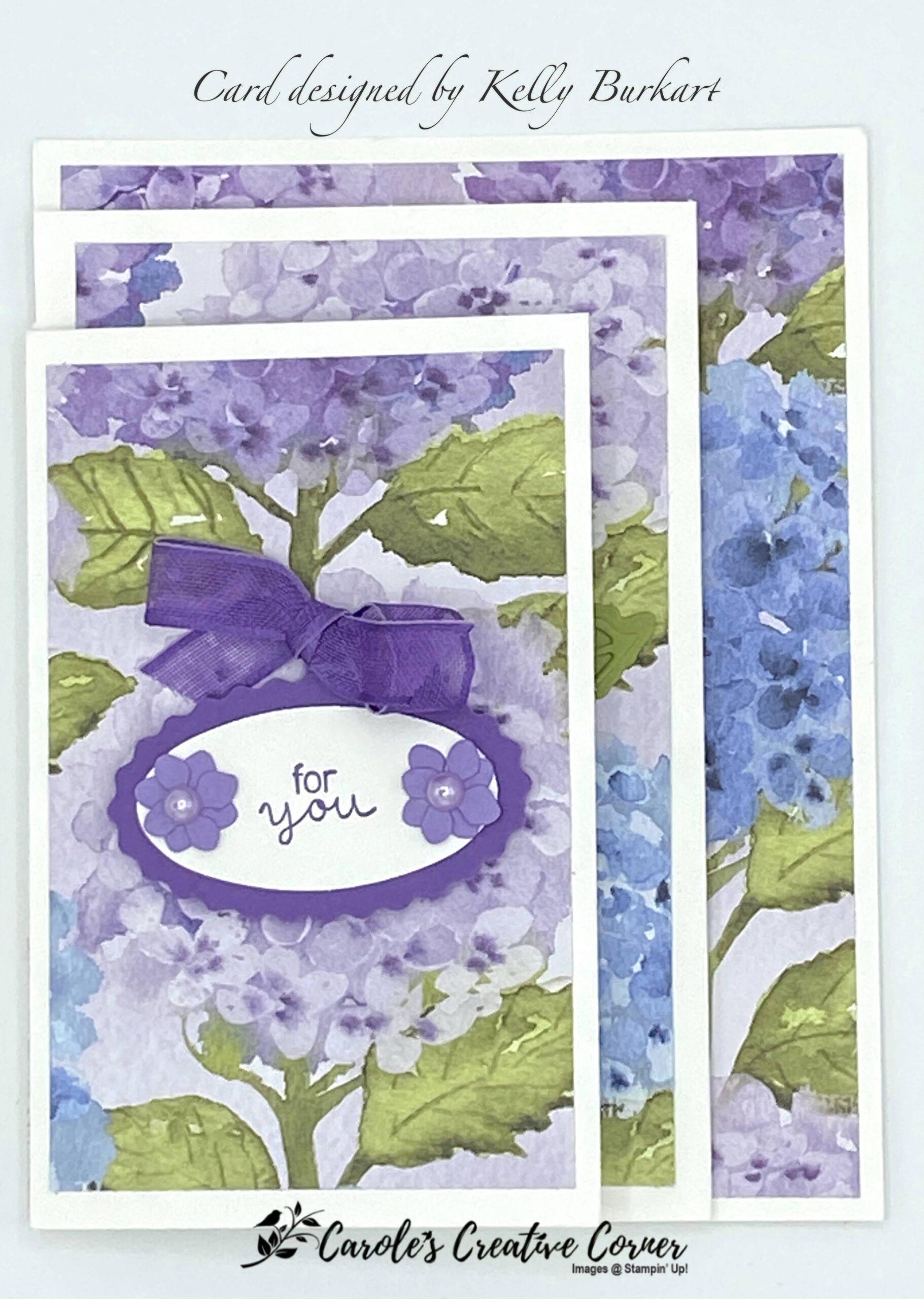 Hydrangea Haven Four Panel Card