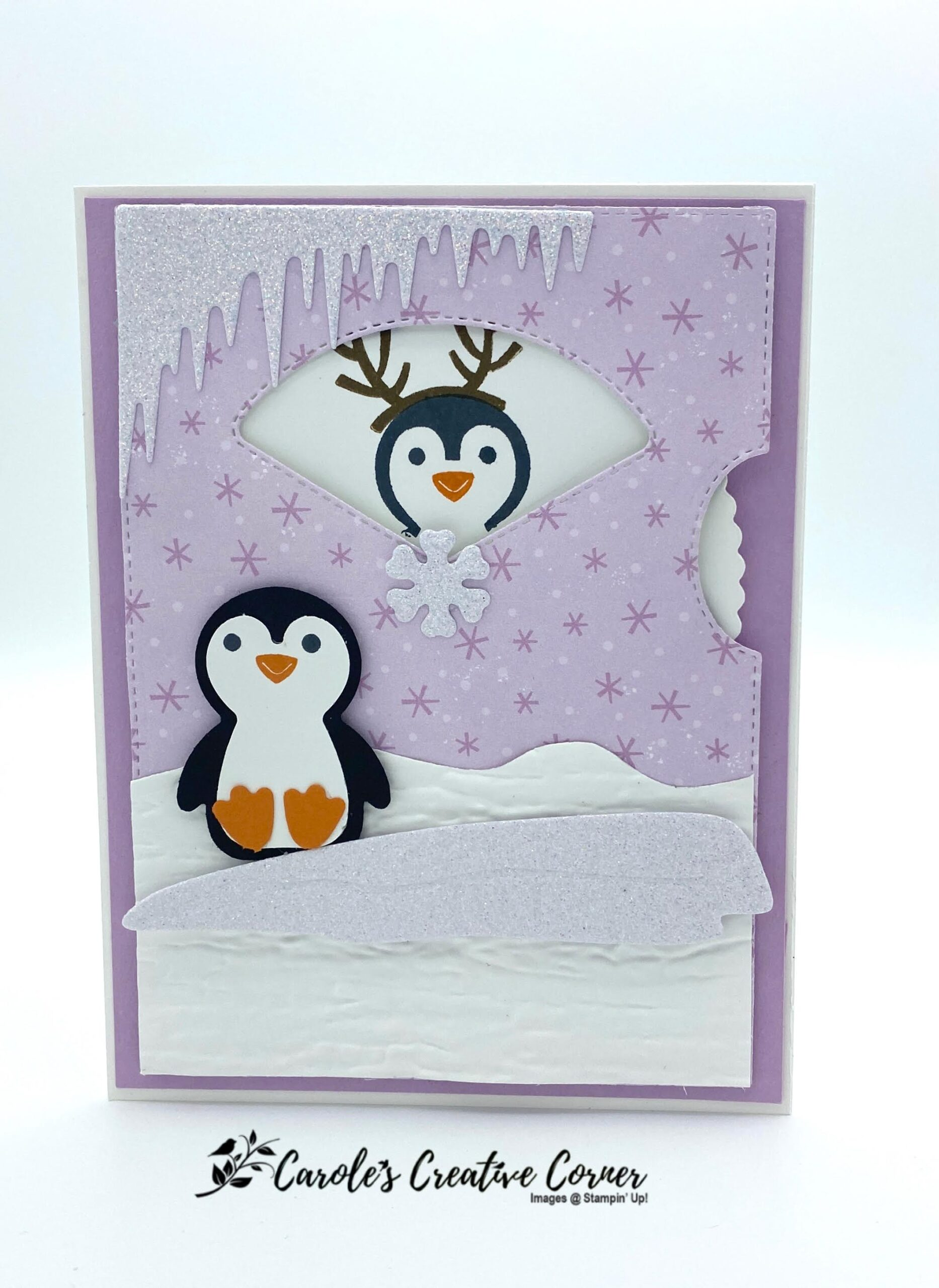 Give it a Whirl Penguin Place Card