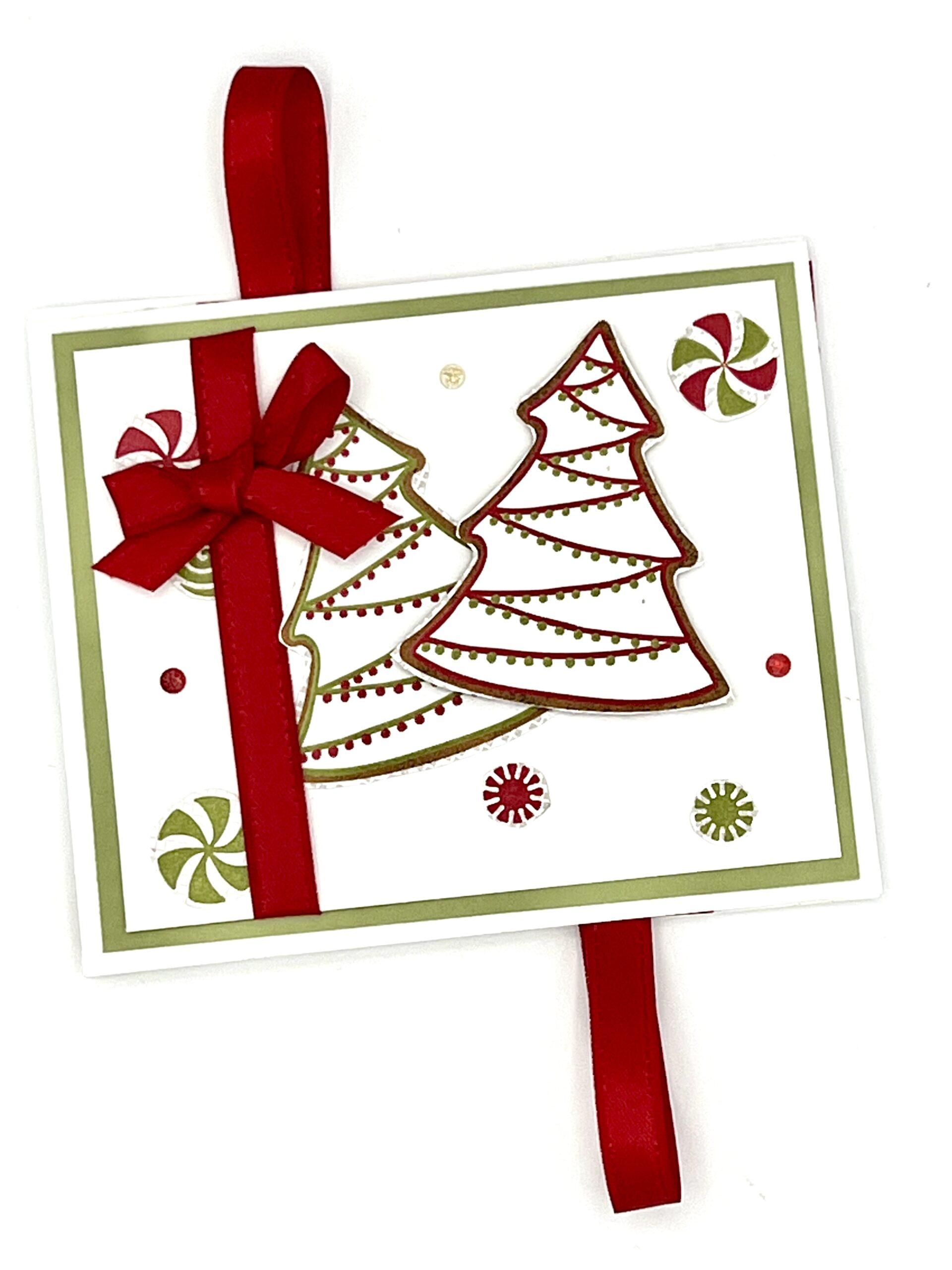 Gingerbread & Peppermint Flip Twist Card