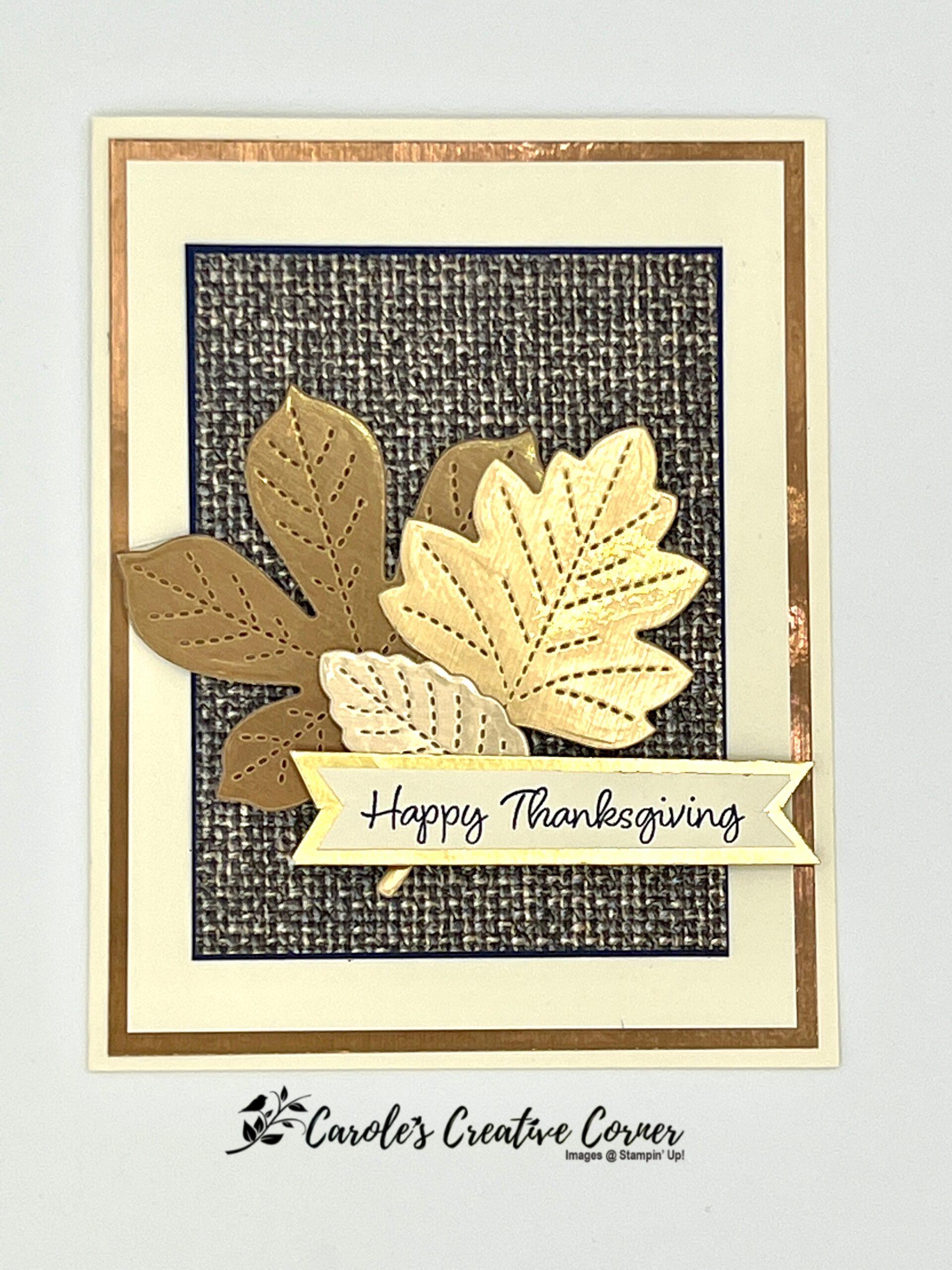 Love of Leaves Metallic Card
