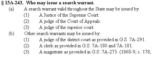 Who May Issue a Search Warrant 2015