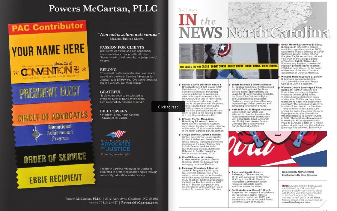 Powers Landreth PLLC Included in Best Law Firms List