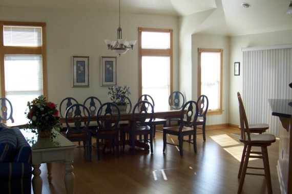 Custom interior design dining room in Outer Banks vacation home