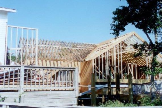 Duck United Methodist Church fellowship hall framing construction