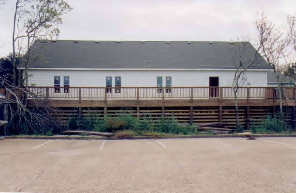 Duck United Methodist Church external view of fellowship hall