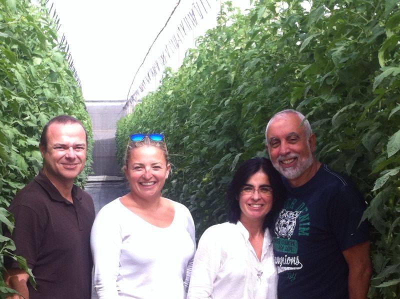 Visita a empresa tomatera