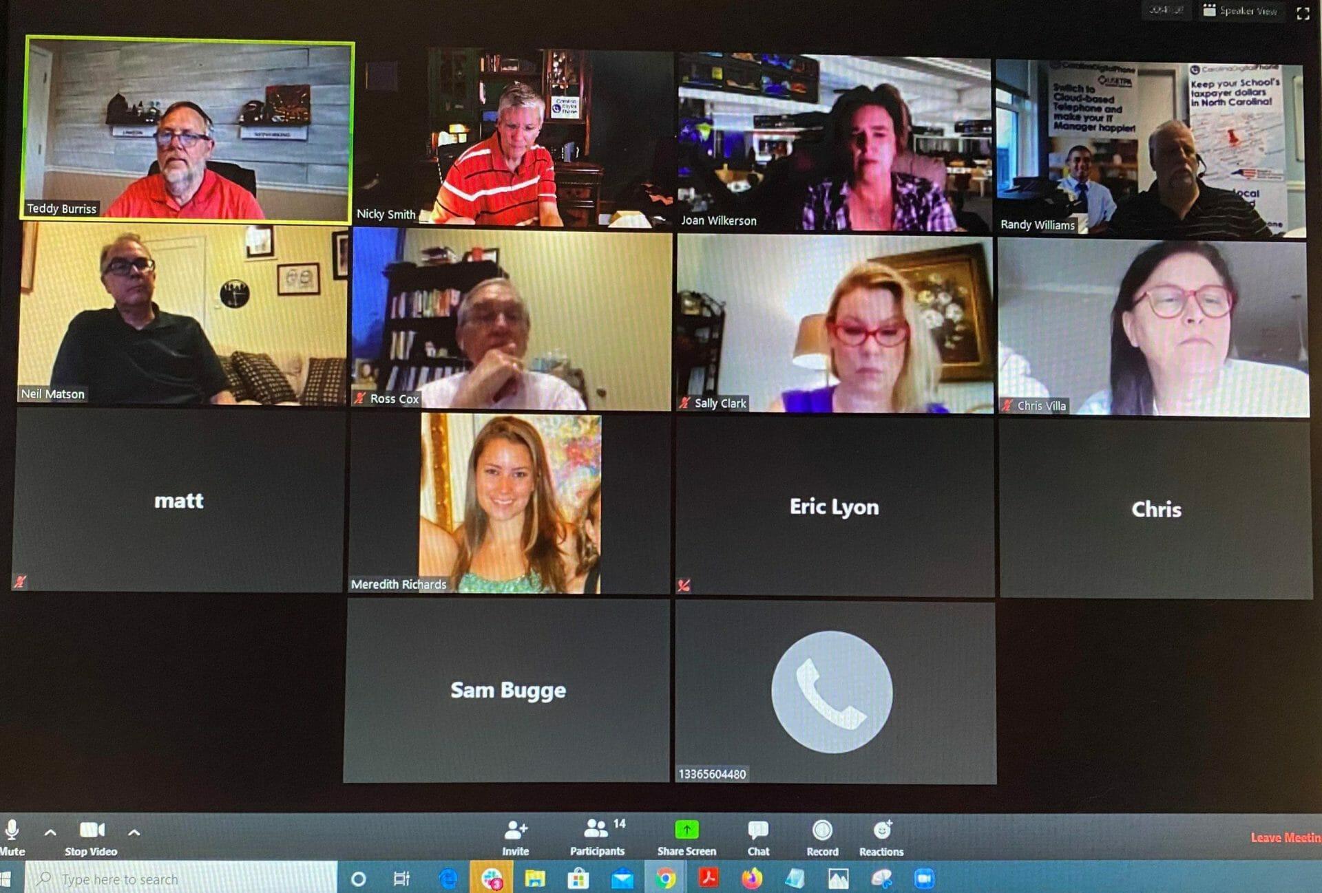 zoom staff meeting