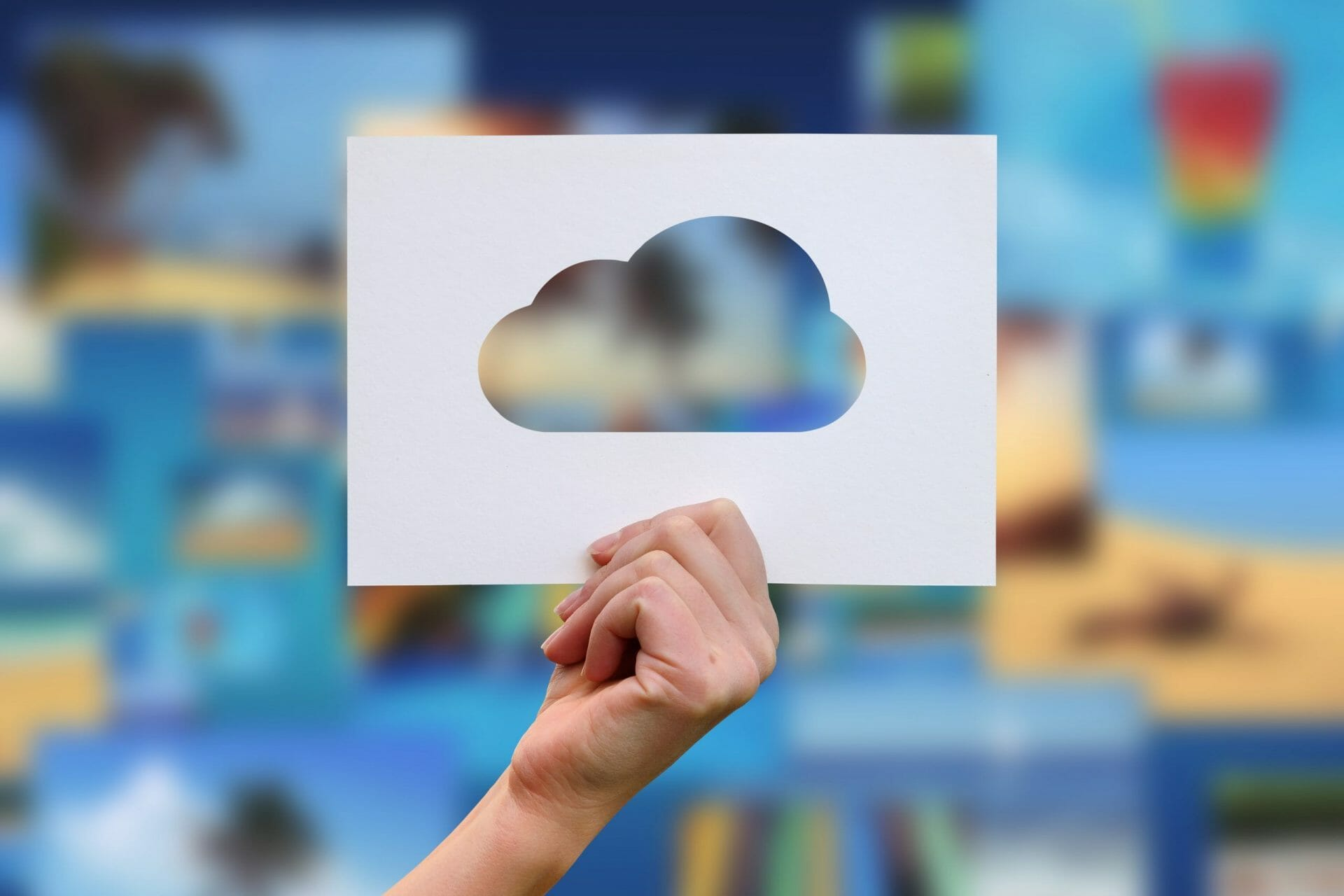 cloud blurred background