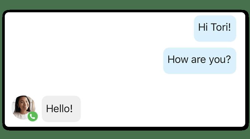 business phone app messaging