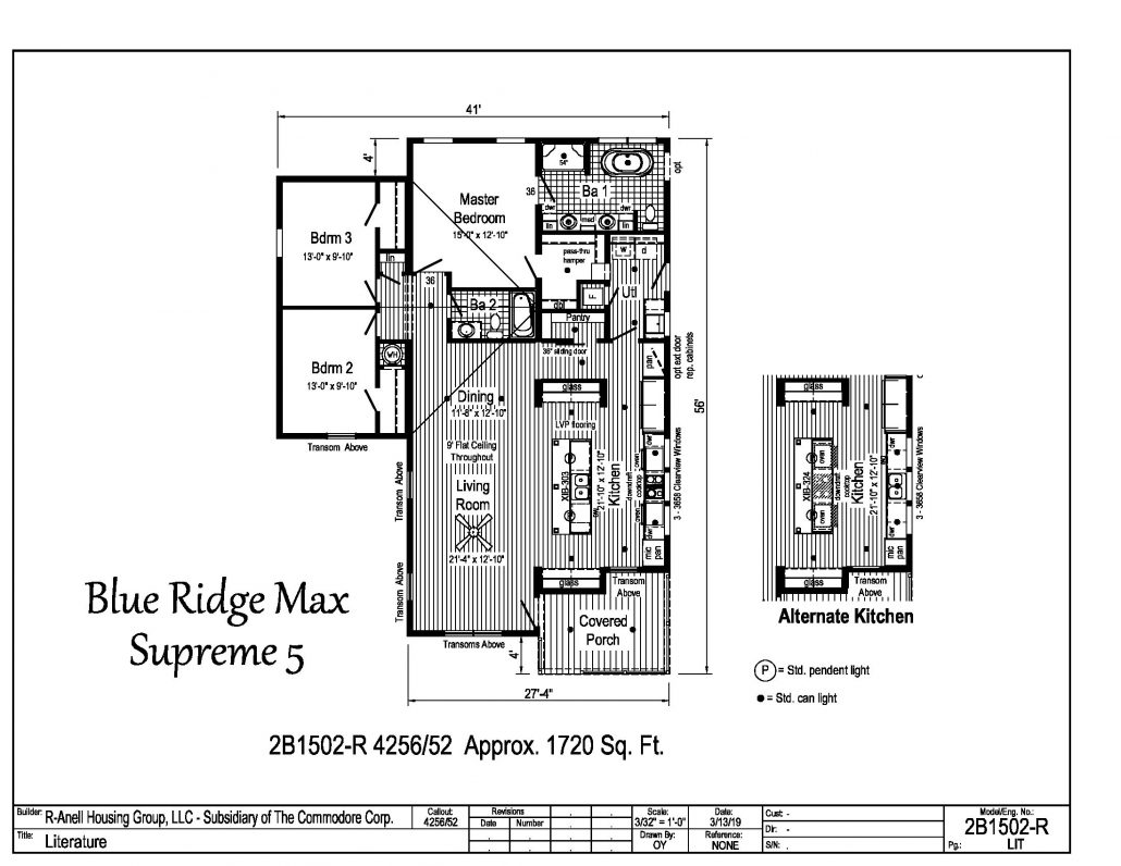 Blue Ridge Max Supreme 5 Carolina Diversified Builders