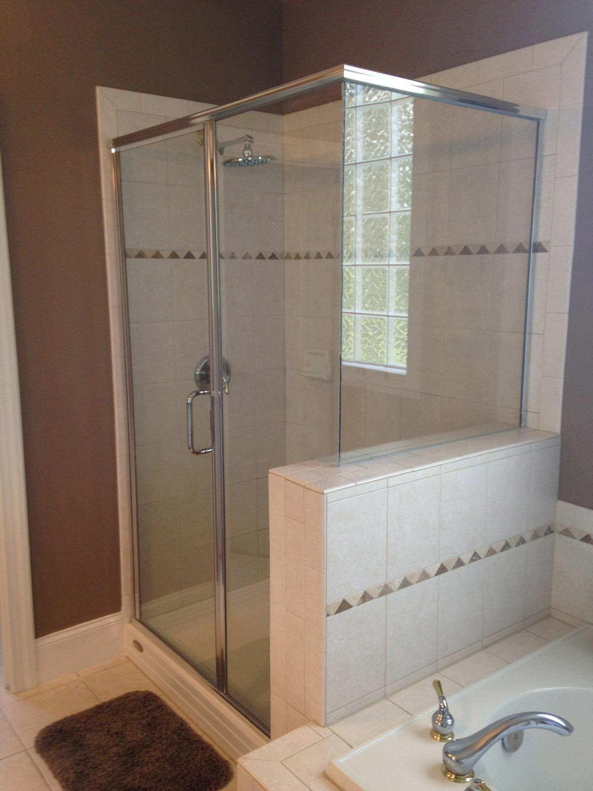 Semi Frameless Shower Doors Raleigh Nc Shower Glass