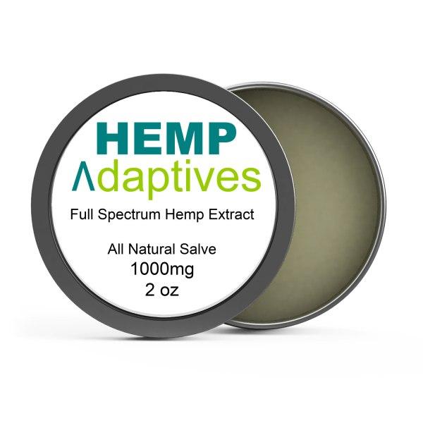 Hemp Adaptives™ Premium Hemp Oil Extract Salve 1000mg 2 oz container