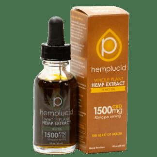 Hemplucid Healthy MCT oil Based CBD with Full Spectrum Cannabinoids