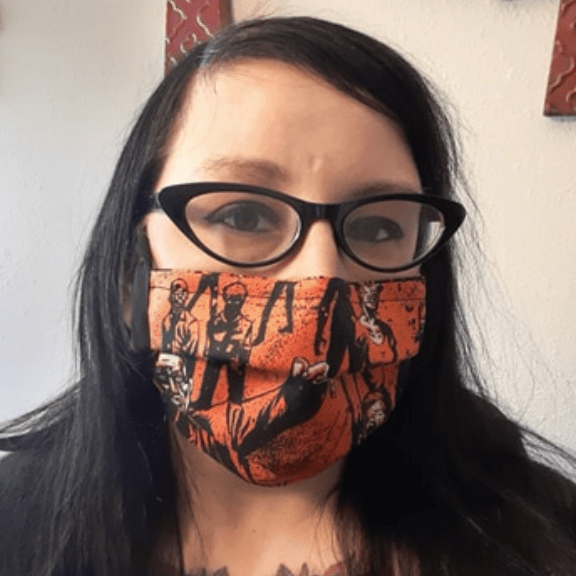 Jenni Sniffen, Coronavirus 19 Face Mask project manager for Carolina Hemp Hut stores