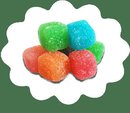 Sour Cubes Cannabinoid Gummies