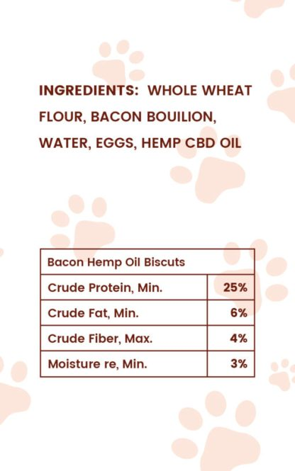 CBD Bacon Biscuits