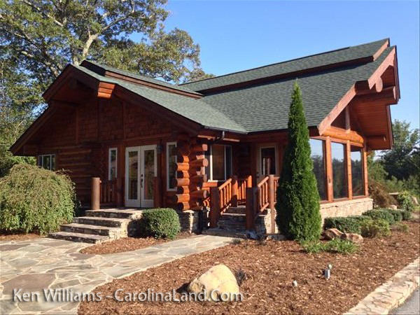 Custom Log home at Lake Lure for sale