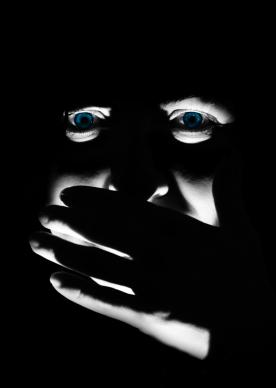 Spooky blue-eyed Susana.