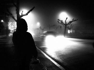 Niebla nocturna. Majadahonda, Madrid.