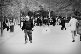 Grandpa. El Retiro, Madrid.