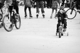 Kid on bicycle. El Retiro, Madrid.