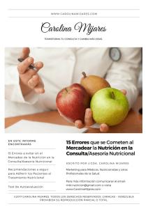 15 errores en el mercadeo de la nutricion en la consulta nutricional