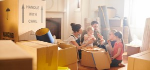 Happy Family Moving with Carolina Moving Solutions