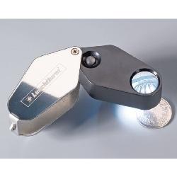 LED Folding Magnifier, 10x magnification, black