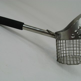 "Royal 15"" Perforated Single Stainless Steel Beach Scoop"