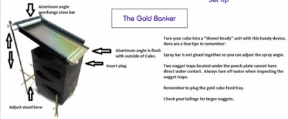 Gold Cube - The Gold Banker - Anodized
