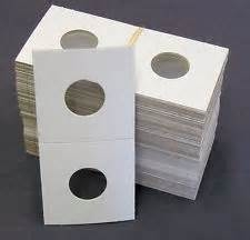 Cent/Dime Size 100 Count  - 2 X 2 - Cardboard Mylar Coin Holders