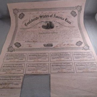 1863 Original Confederate Bond
